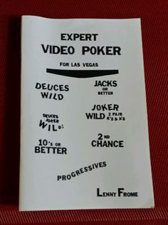 Expert Video Poker for LAS VEGAS by Lenny Frome