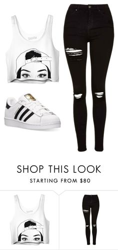 """""""Untitled #492"""" by cuteskyiscute on Polyvore featuring Topshop and adidas"""