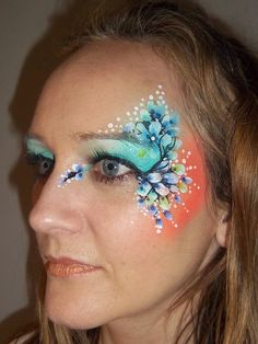 Award winning face and body painting by Brierley Thorpe. Face and body art for private and corporate events, parties, fashion, film. Face Painting Flowers, Adult Face Painting, Eye Painting, Face Painting Designs, Face Paint Makeup, Makeup Art, Feminine Face, Lip Designs, Face Design