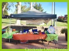 Our Creekside Orthodontics Booth this year for Vacaville Kids Fest.