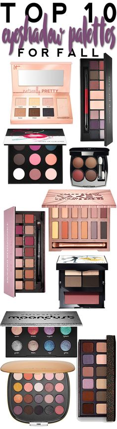 Top 10 Eyeshadow Palettes for Fall.