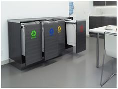 Recycling is now an integral component of almost every commercial design project - and the logical next step is to provide a recycle station comprising durable Hideaway Bins Green building codes, government recycling initiatives - the drive to protect our planet from excess waste in the commercial sector has never been stronger. And part of this is establishing efficient recycling practices in the workplace - a company mindset not lost on clients and visitors.