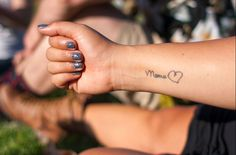 35 mother son tattoos that will make you miss your mom Mother Son Tattoos, Small Sister Tattoos, Small Tattoos With Meaning, Tattoos For Women Small, Tattoo Mama, Tattoo For Son, Tattoos For Kids, Girl Tattoos, Tatoos