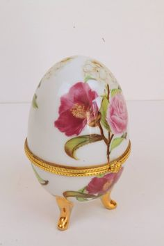Your place to buy and sell all things handmade Egg Decorating, Trinket Boxes, Porcelain, Rose, Unique Jewelry, Handmade Gifts, Eggs, Easter, Vintage