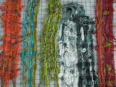 Scarves made with water soluble stabilizer