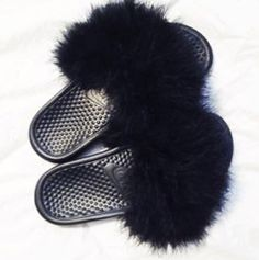 Hey, I found this really awesome Etsy listing at https://www.etsy.com/listing/460381720/nike-fur-slides-custom-nike-flip-flops