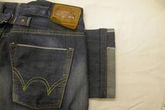 Edwin denim selvedge jeans taper leg width