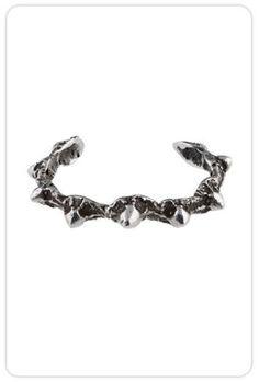 Lauren Wolf Oxidized Sterling Silver Thorn Cuff