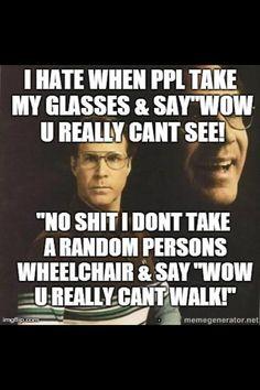 glasses wheel chair