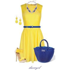 "yellow dress polyvore | Style The Yellow Dress"" by sherryvl on Polyvore 