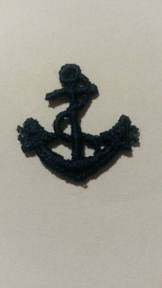 This item is unavailable Ship Anchor, Sew On Patches, Appliques, Crochet Necklace, My Etsy Shop, Sewing, Check, Blue, Riveting