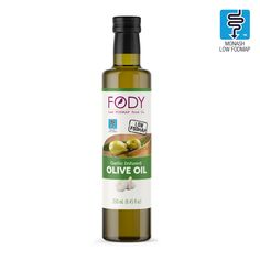 Garlic Infused Olive Oil Low FODMAP Extra-Virgin, NON-GMO, Made in Italy