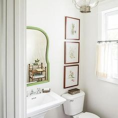 White Country Powder Room with Vintage Lantern and Cafe Curtains