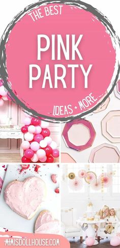 Pink Themed Party Food and Decor Pinkalicious + Perfect Pink Party Ideas. I'm sharing some pretty party ideas today for your pretty pink parties. If you have a girly girl or are planning a pretty pink baby shower...you will love these fun and festive pink party decorations and food ideas!