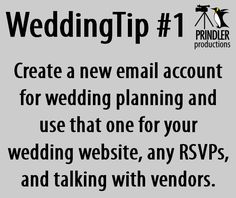 Wedding Tip #1 by Prindler Productions