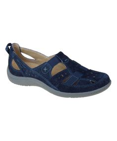 Look at this Earth Origins Navy Leather Carissa Sandal on #zulily today!