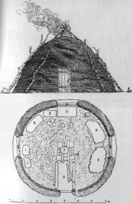 Top: A Sami House; Bottom: Interior Floor Plan