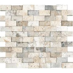 color palate  ANATOLIA   Honed Cubics Picasso Travertine Mosaics - 1 Inch x 2 Inches