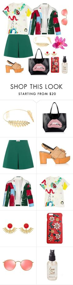 """""""Untitled #1"""" by nastalvov ❤ liked on Polyvore featuring Cara, RED Valentino, Valentino, Robert Clergerie, Canvas by Lands' End, Marc Jacobs, Ottoman Hands, Dolce&Gabbana, Ray-Ban and Olivine"""