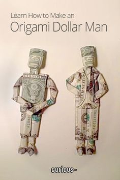 If you're going to give cash as a present, why not make it fun! Learn how to fold an origami dollar man!