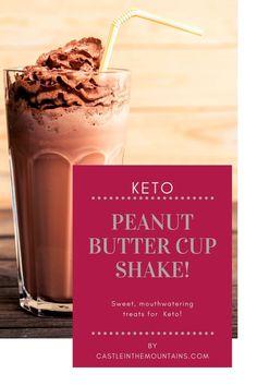 Amazing Keto Peanut Butter Cup Smoothie ~ 6 Net Carbs Chocolate Peanut Butter Cups, Chocolate Shake, Natural Peanut Butter, Chocolate Desserts, Keto Smoothie Recipes, Low Carb Smoothies, Smoothie Ingredients, Keto Recipes, Keto On A Budget