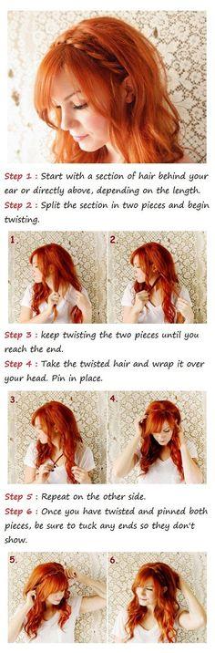 Cute braided headband tutorial
