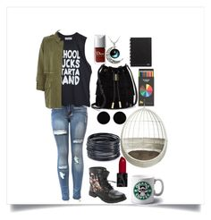 """""""School sucks start a band"""" by kylie897 on Polyvore featuring beauty, Vince Camuto, River Island, AeraVida, ABS by Allen Schwartz and CB2"""