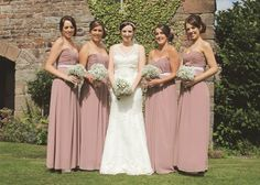 Dusky pink bridesmaid dresses, these were last season H&M purchased brand… Dusky Pink Bridesmaid Dresses, Dusky Pink Weddings, Dusty Rose Wedding, Wedding Bridesmaids, Bridal Dresses, Bridesmaid Ideas, Vintage Wedding Theme, Boho Wedding, Dream Wedding
