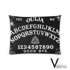 OUIJA Pillow Case Gothic Pagan Bat Bones Black Dark