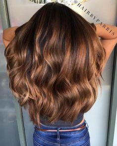 Long Caramel Balayage Hair