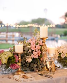 Such a gorgeous sight for the guests to feast at #wedding #floral #centerpiece #gold #goldwedding