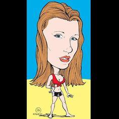 Caterina. ©Davyhead #davyhead #comics #drawing #caricature #caricatura #caricaturas #caricatures