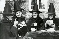 Vintage Witches Witch's Tea Party Victorian Witch Wiccan Sisters Witch Hats…