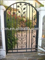 garden gate with leaf decorations