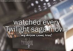 Watch every Twilight Saga Movie ✔ 5 March 2016- Just for fun we re-watched all of them over the past week