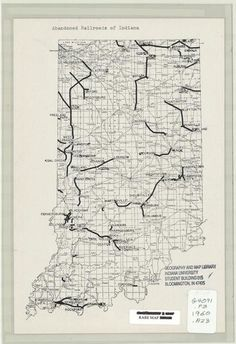 Abandoned railroads of Indiana. Huntington Indiana, Indianapolis Skyline, Turkey Run State Park, Indiana Map, Evansville Indiana, North America Map, Train Route, Abandoned Train, Indiana University