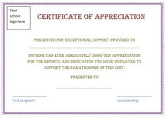 Free Certificate Appreciation Template Purple Border Employee Recognition Awards Templates Certificates