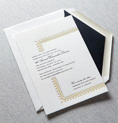 Vignette corporate letterpress invitation by Dauphine Press