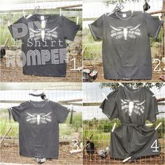 Frugal Friday: DIY Retro T-shirt Romper Easy 5-minute Instructional on YouTube - Regina Rodriguez