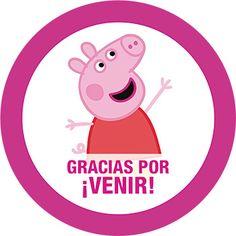 Etiqueta Peppa Pig Redonda Kit Imprimible Fiesta de Cumpleaños Invitacion Peppa Pig, Cumple Peppa Pig, Peppa Pig Gratis, Peepa Pig, Peppa Pig Wallpaper, Peppa Pig Teddy, George Pig, Pig Party, Ideas Para Fiestas