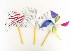 DIY Patriotic Printable Pinwheels