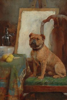 The Painter's Dog by William Arthur Breakspeare on Curiator, the world's biggest collaborative art collection. Art And Illustration, Old Paintings, Animal Paintings, Vintage Dog, Dog Portraits, Dog Art, Painting Inspiration, Les Oeuvres, Painting & Drawing