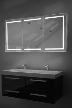 12 best illuminated mirrored bathroom cabinets images bathroom rh pinterest com