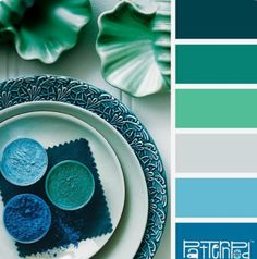 Blue Green Cool Colour Palette Color Schemes Palettes