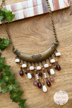 Brown Boho Pendant Necklace Long Necklace Bohemian Jewelry Bohemian Necklace Handmade Jewelry Crystal Necklace Gift for Her Gift for Wife - Brown Boho Pendant Necklace Long Necklace Bohemian Jewelry Bohemian Necklace Handmade Jewelry Cryst - Bohemian Jewellery, Gypsy Jewelry, Bohemian Necklace, Beaded Jewelry, Jewelry Necklaces, Long Pendant Necklace, Simple Necklace, Crystal Necklace, Diamond Necklaces