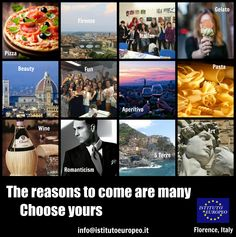 Why #Italian? Choose your reason! #Florence #Firenze www.istitutoeuropeo.it