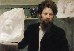 Борис Кустодиев. Портрет скульптора Н.Л.Аронсона. 1904