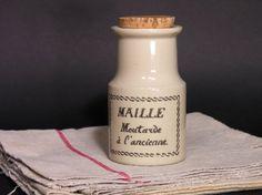 Pot en Grès Moutarde à l'Ancienne Maille  Pot par LArriereBoutique