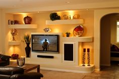 drywall entertainment units | Drywall Entertainment Center