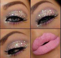 Pink Sparkley makeup for my pink sparkly dress